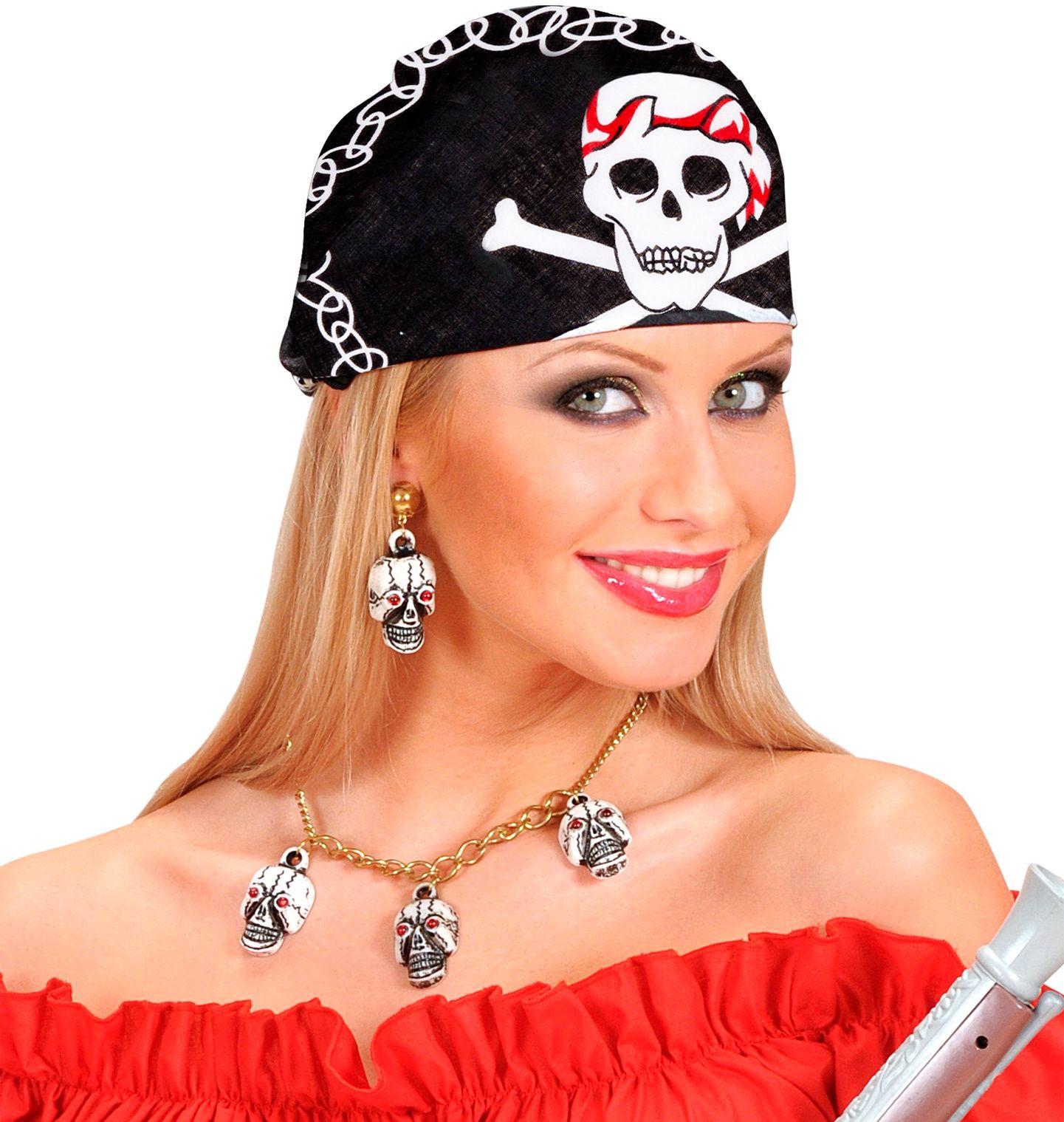 Zwarte piraten bandana