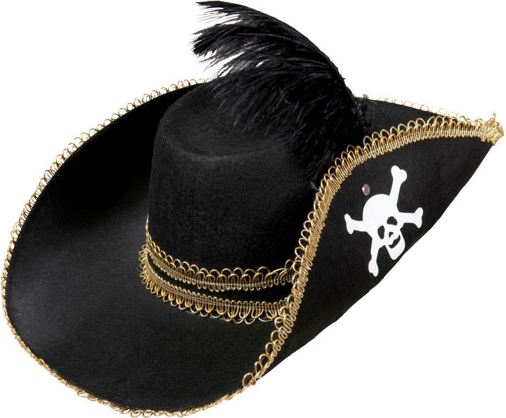 Zwarte piraten hoed