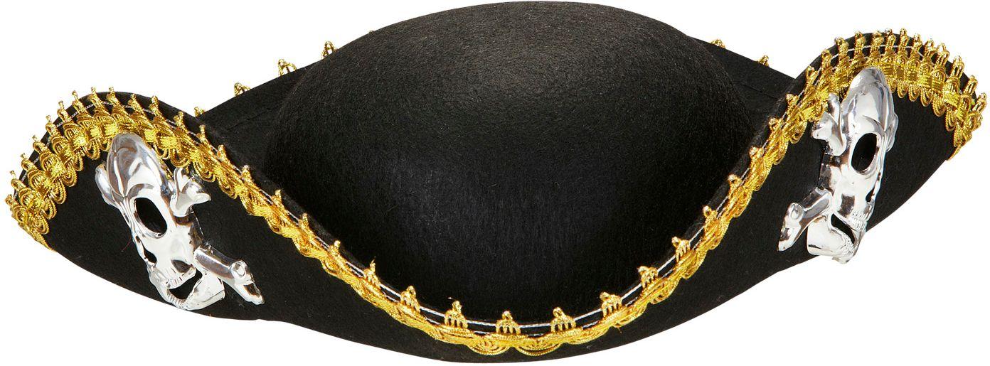 Zwarte piraten hoed dames