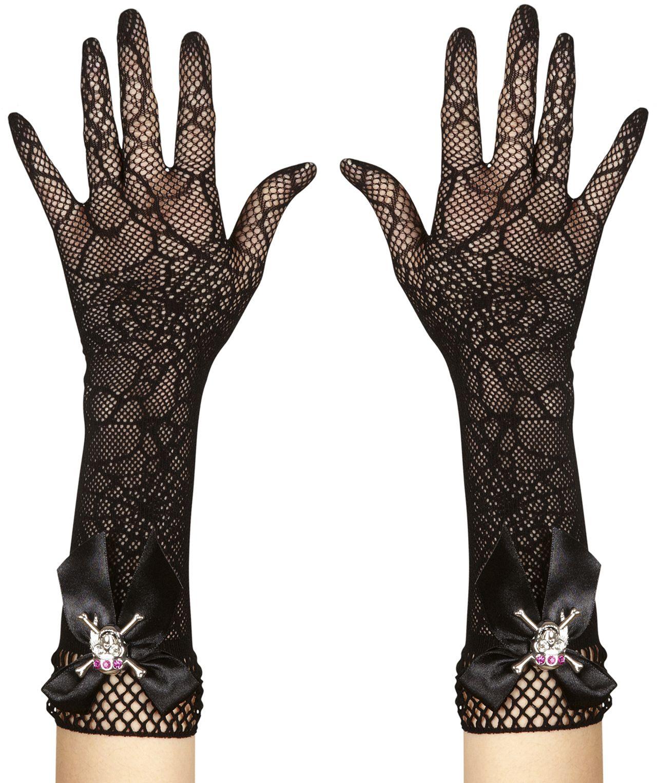 Zwarte piraten nethandschoenen