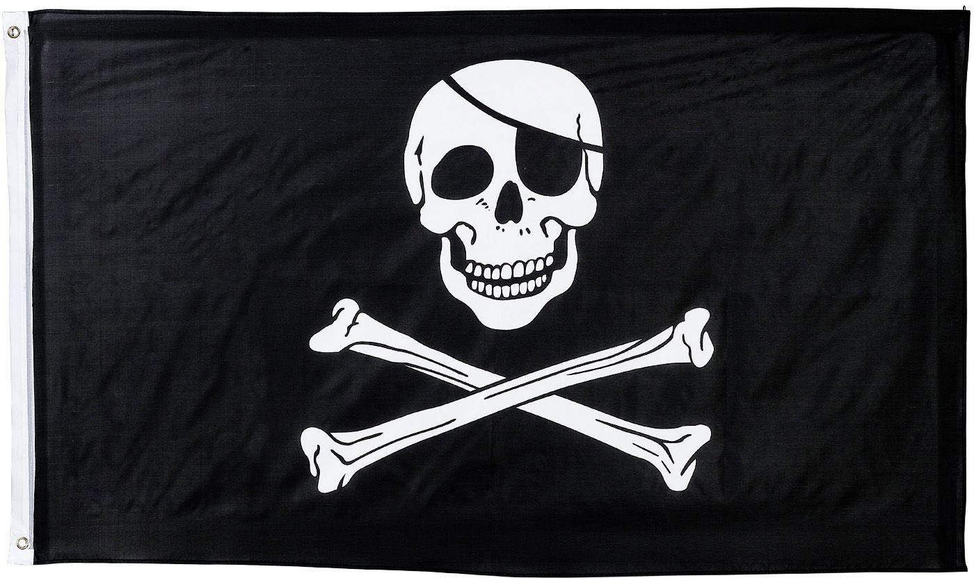 Zwarte piraten vlag