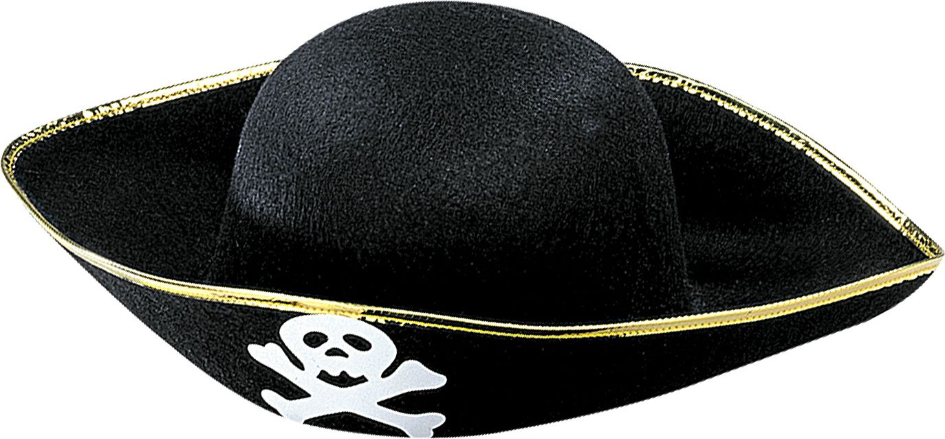 Zwarte piratenhoed