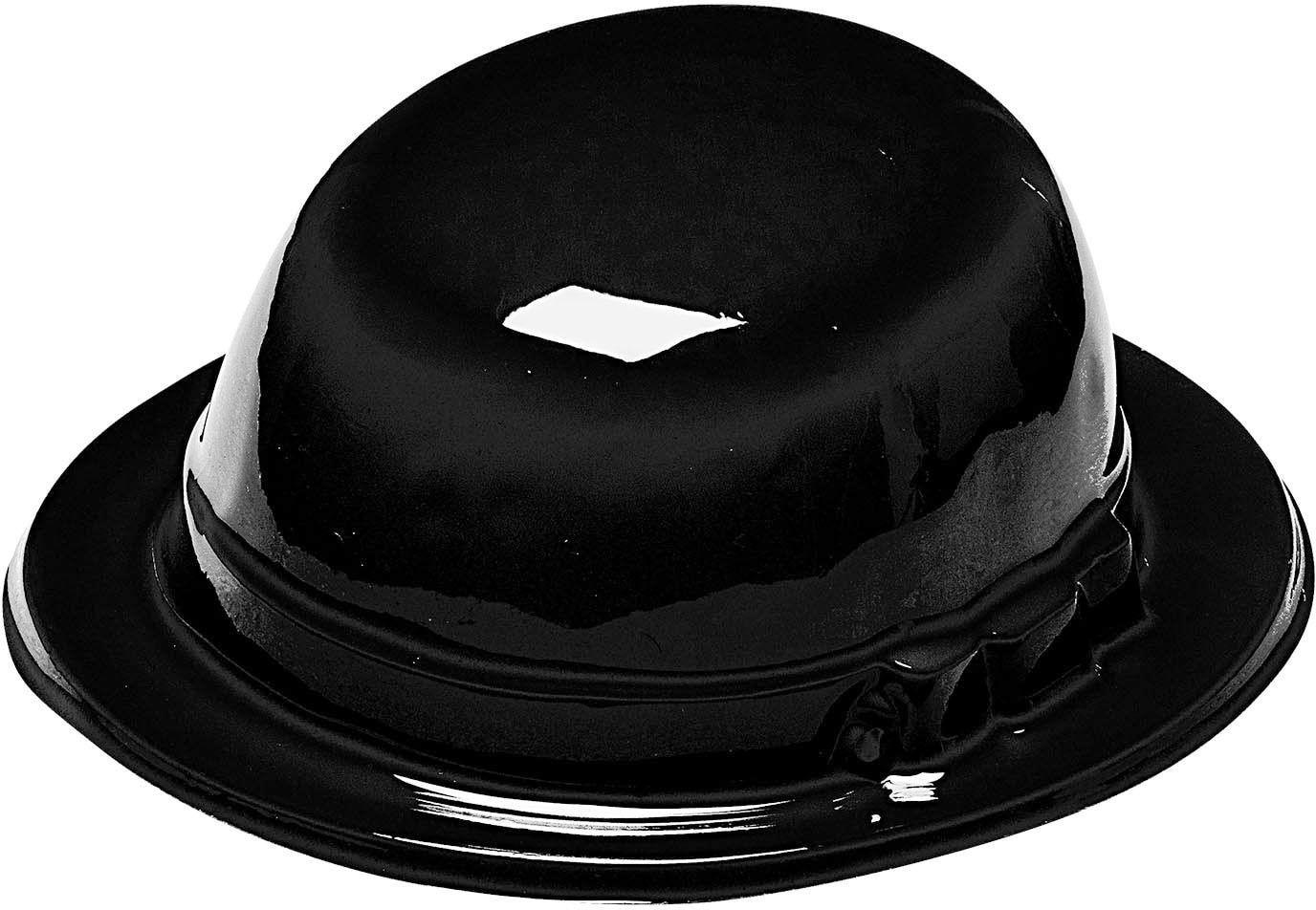 Zwarte plastic bolhoed
