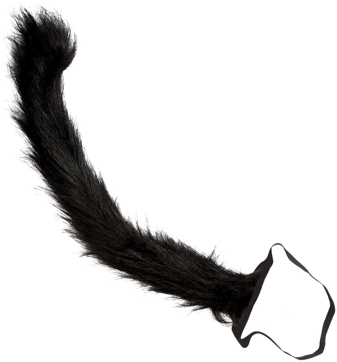 Zwarte pluche kattenstaart