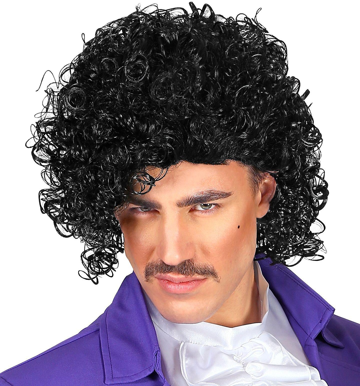 Zwarte Prince pruik