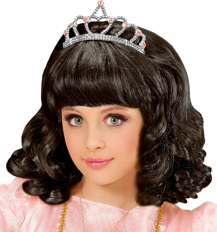 Zwarte prinses pruik