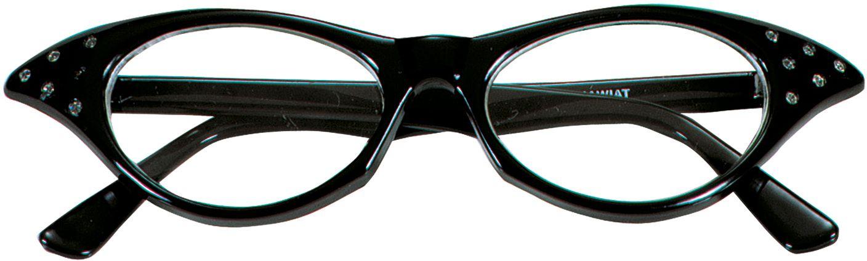 Zwarte retro bril
