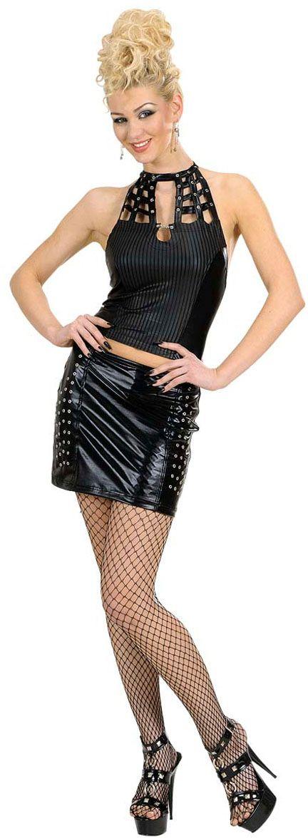 Zwarte rok en top bespijkerd
