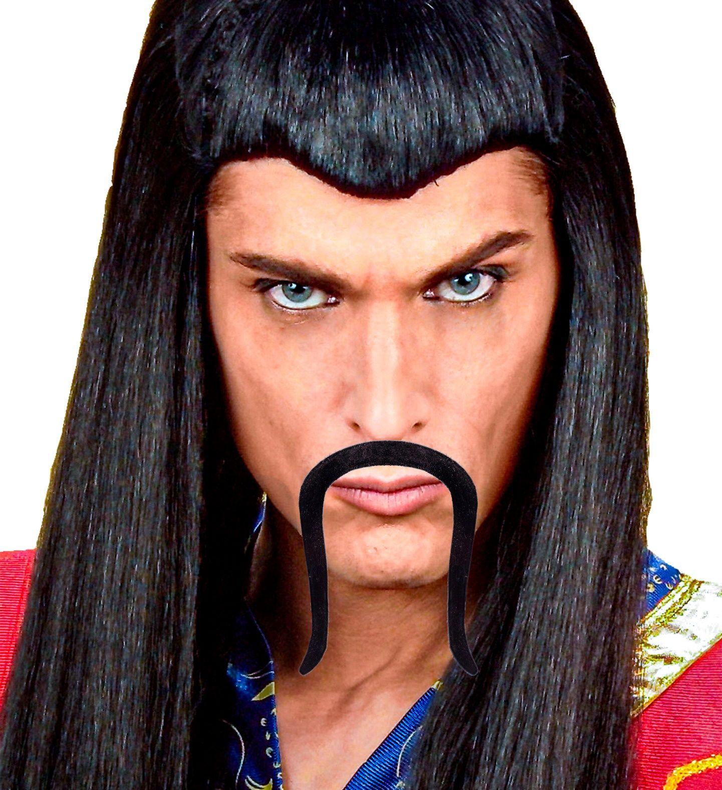 Zwarte samurai snor