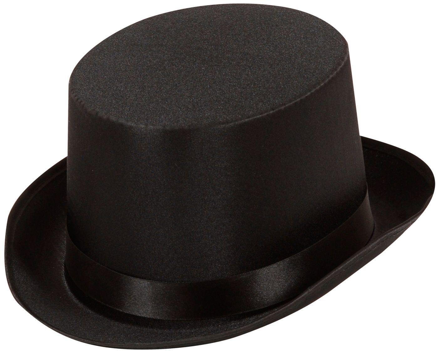 Zwarte satijnen hoge hoed