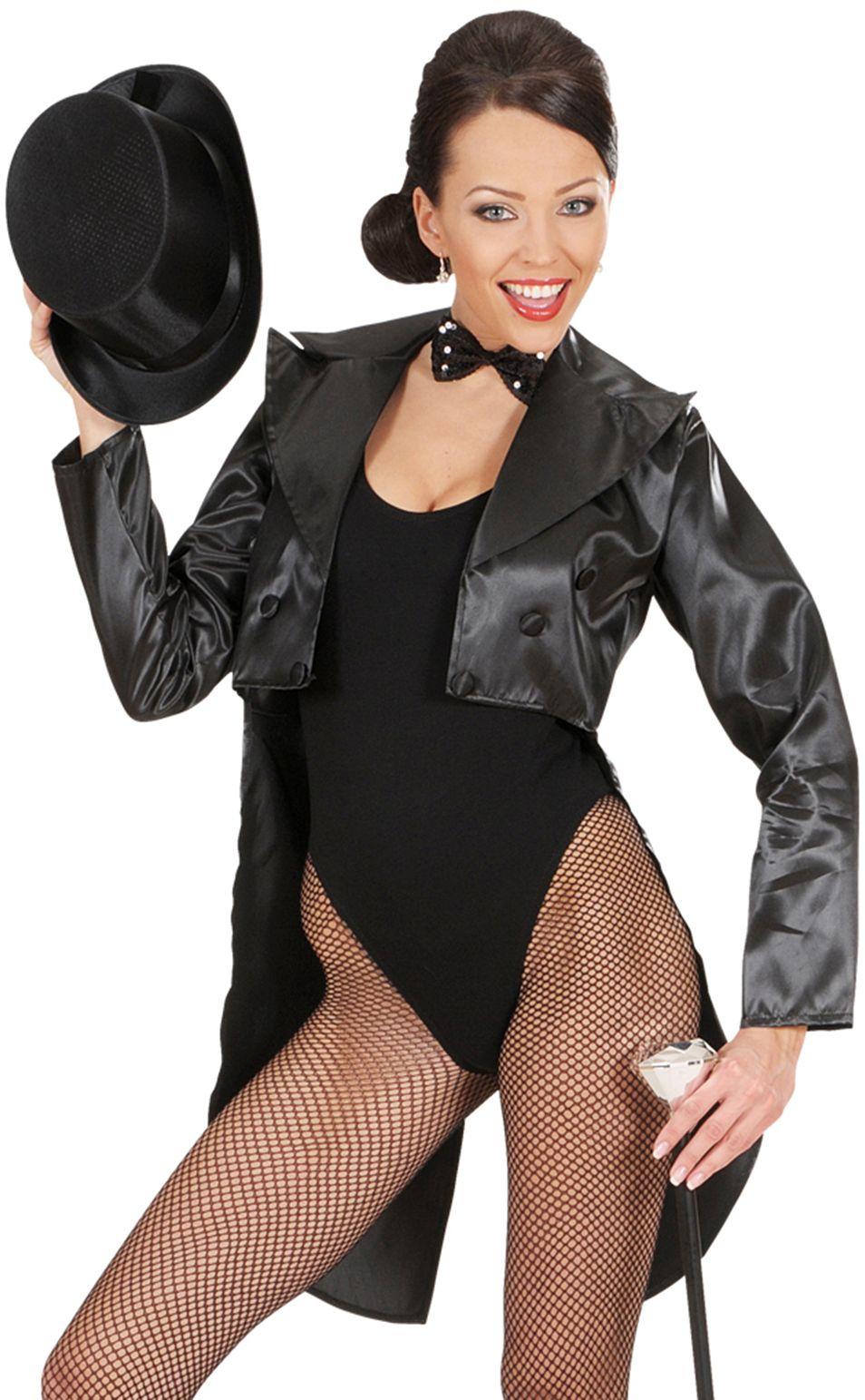 Zwarte Sexy Dames Jas