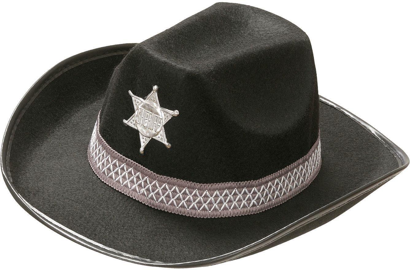 Zwarte sheriff hoed