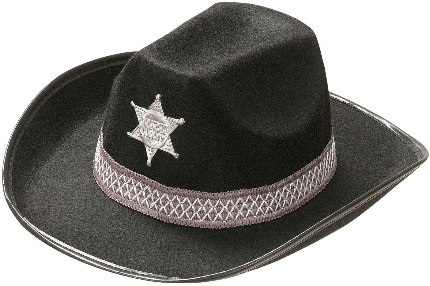 Zwarte sheriff hoed kind