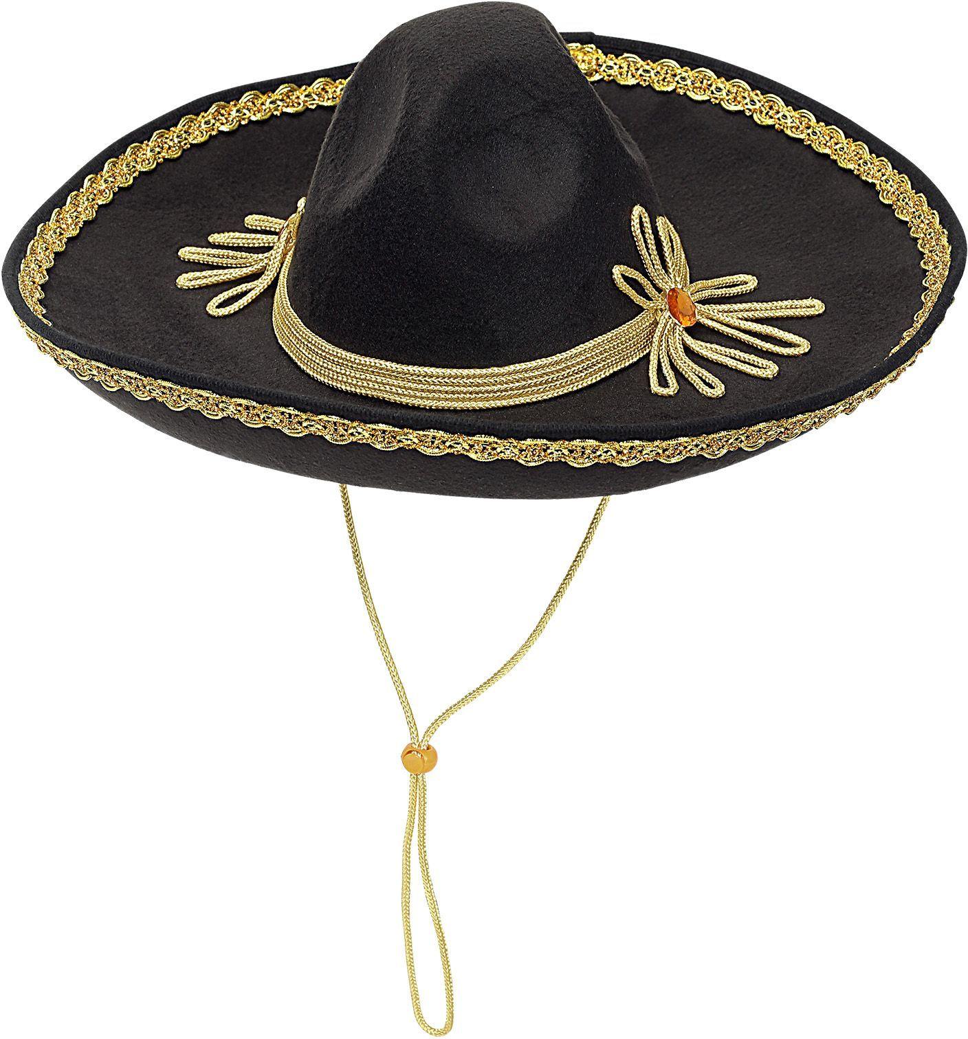 Zwarte sombrero Mexico