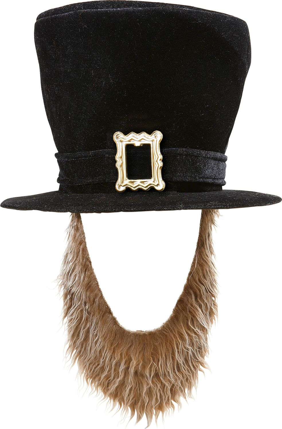 Zwarte St. Patricksday hoed met bruine baard