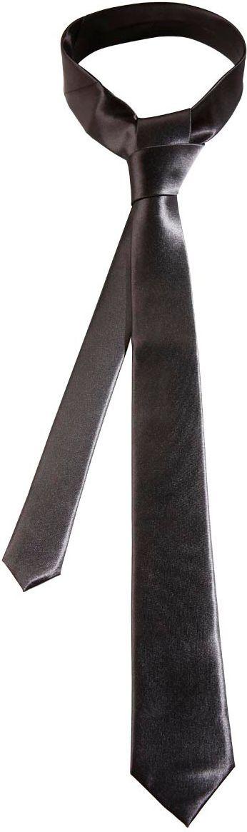 Zwarte stropdas satijnen