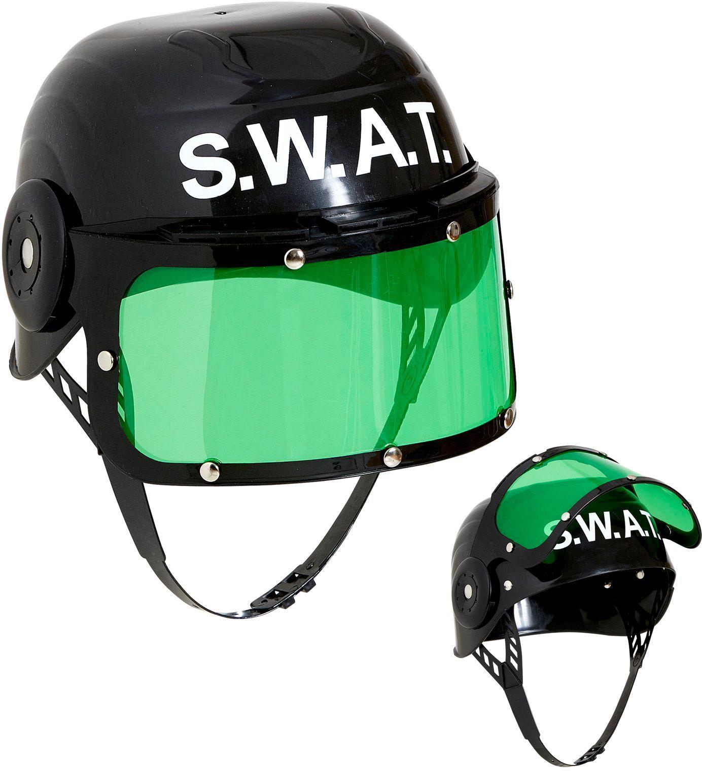 Zwarte SWAT helm