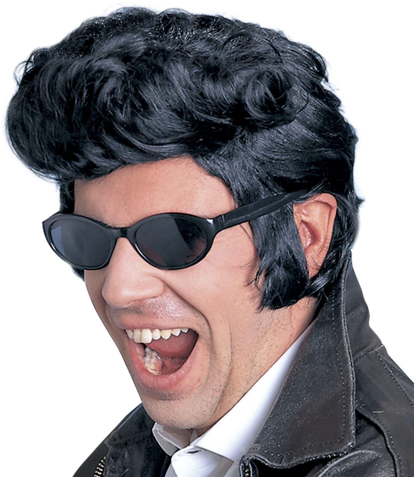 Zwarte The King Elvis pruik