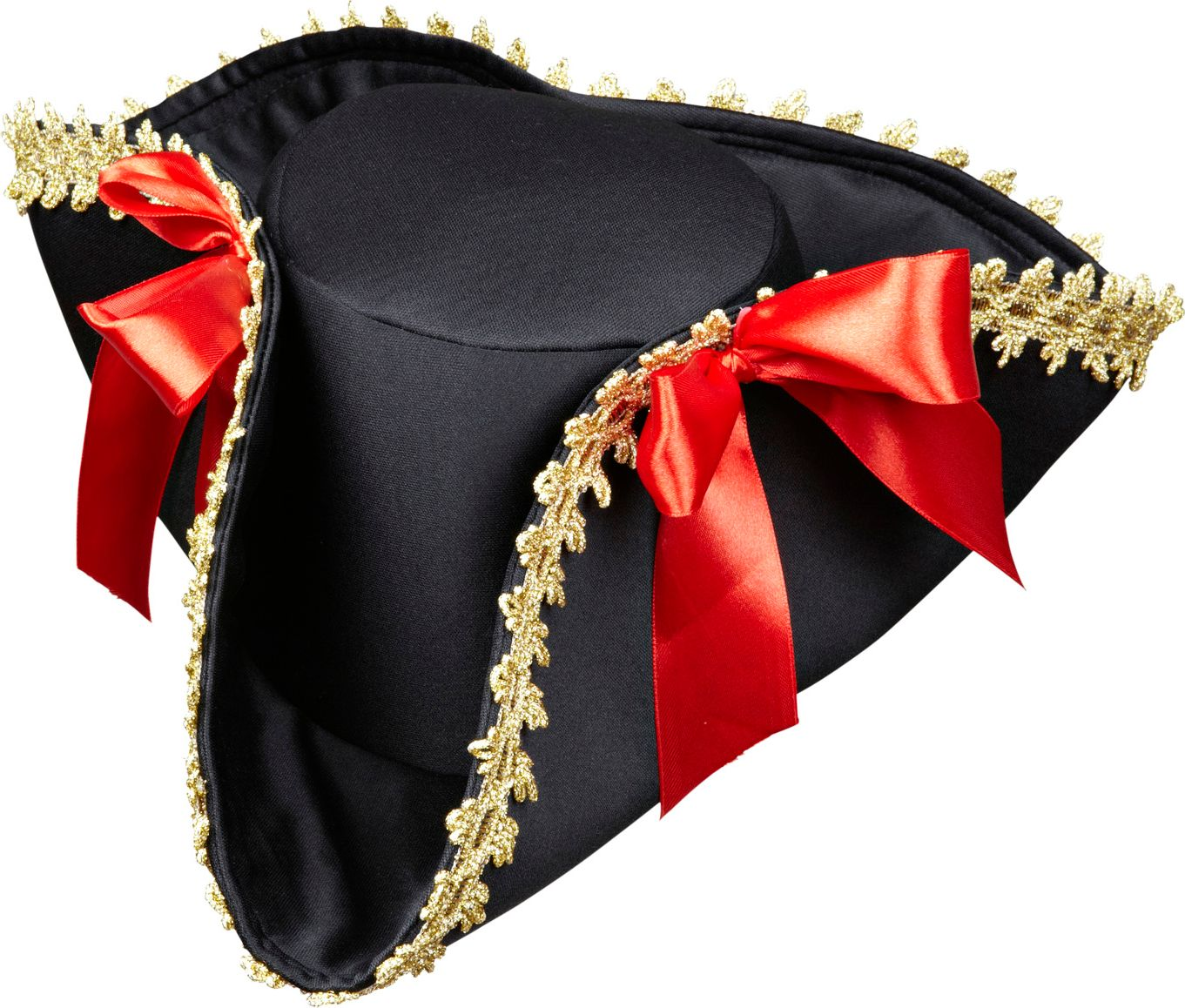 Zwarte tricorn piratenhoed