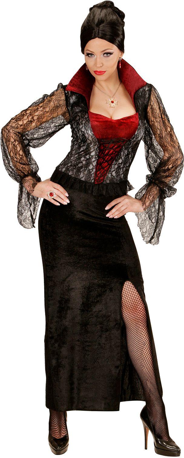 Zwarte vampier jurk