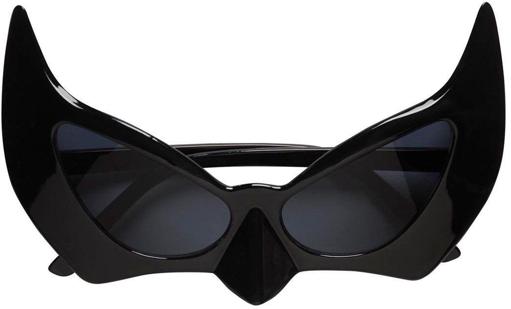Zwarte vleermuisbril