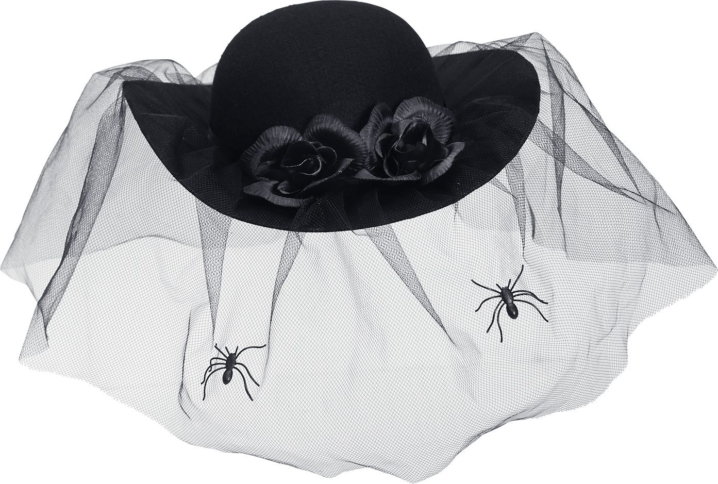 Zwarte weduwe hoed dames