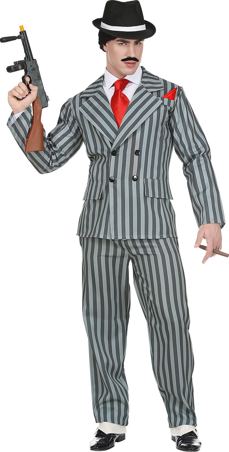 Zwartgrijs gangster outfit