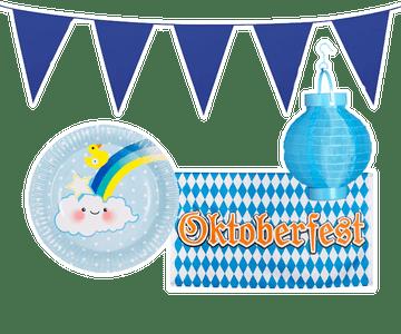 Blauwe decoratie
